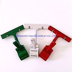 الصين Colorful Thumb Price Tag Holder Clip , Supermarket Pop Clip In Red Green White المزود
