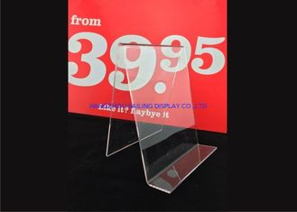 الصين Custom Clear Acrylic Sign Holder , Acrylic Menu Poster Holders For Display المزود