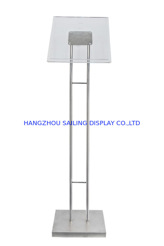 Floor Standing POP Poster Display Stand , 1100 - 1600mm Adjustable Height المزود